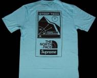 16ss Supreme x The North Face Steep Tech T-Shirt シュプリーム/ザ・ノースフェイス 半袖Tシャツ クルーネック ライトブルー