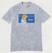 2015ss SUPREME シュプリーム 人気 Bread Alone Tee Tシャツ 半袖 プリント コットン グレー クルーネック
