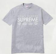 15SS新作 SUPREME シュプリーム International Tee インターナショナル グレー 半袖Tシャツ 新品 クルーネック コットン