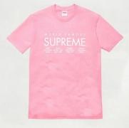 2015ss シュプリーム  SUPREME International Tee インタナショナル クラシック半袖Tシャツ ピンク コットン クルーネック