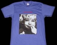 2016ss シュプリーム tシャツ激安 SUPREME Crybaby Tee 大人気 半袖 Tシャツ コットン  クルーネック ブルー 新品