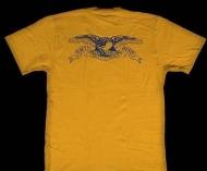 2016ss シュプリーム アンタイヒーロー SUPREME x ANTIHERO  Pocket Tee 半袖 Tシャツ コットン イエロー クルーネック