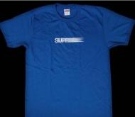 新品 新作 SUPREME シュプリーム Motion Logo Tee モーションロゴ Tシャツ ブルー クルーネック 半袖 コットン 2016SS