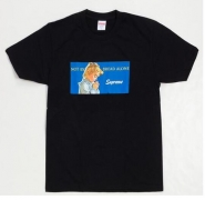 シュプリーム SUPREME 15SS Bread Alone Tee ブレッドアロン 半袖 Tシャツ ブラック コットン クルーネック プリント
