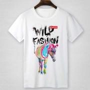 SUPREME WILD FASHION 新作シュプリーム tシャツ コピー 馬プリント 半袖 グレー ホワイト コットン ボックスロゴ 品質保証高品質