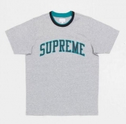 SUPREME 15SS新作 シュプリーム Arc Logo Double Ringer Top Tシャツ 半袖 グレー コットン アークロゴダブルリンガートップ