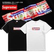 白 黒 SUPREME ボックスロゴ シュプリーム 半袖Tシャツ メンズ カジュアル 綿素材 人気定番低価 夏服 .