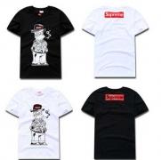 SUPREME 18SS 春夏 カジュアル 服 シュプリーム シャツ サイズ感 ブラック ホワイト 2色 超激得低価 男性 半袖Tシャツ.