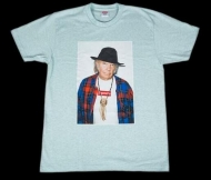 人気 新品 シュプリーム SUPREME Neil Young Tee ニール・ヤング Tシャツ ターコイズ 15ss 新作 半袖 クルーネック コットン