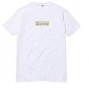 新品 春夏 シュプリーム Tシャツ SUPREME BLING LOGO TEE ブリングロゴ 人気 半袖 ホワイト コットン クルーネック