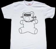 新作 SUPREMEx UNDERCOVER 15ss 新品 シュプリーム アンダーカバー BEAR TEE Tシャツボックスロゴ コットン ホワイト