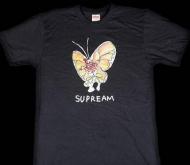 2015ss 新作 シュプリーム Tシャツ コピー SUPREME Gonz Butterfly Tee  半袖Tシャツ コットン ブラック人気新品