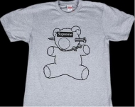 SUPREMEx UNDERCOVER BEAR TEE 15ss アンダーカバー シュプリーム tシャツ偽物 半袖Tシャツ コットン グレー新品