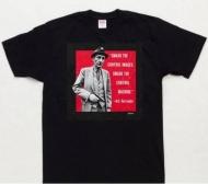 2016年春夏新作 大人気 SUPREME シュプリームtシャツ Burroughs Tee コットン クルーネック プリント 新品 ブラック