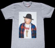 SUPREME 新作 シュプリーム tシャツ激安 新品 Neil Young Tee ニール・ヤング コットン グレー クルーネック プリント