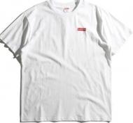 シュプリーム SUPREME Tシャツ 半袖 メンズ ヘインズ タグレス Hanes コラボ コットン カットソー  クルーネック ホワイト ブラック 2色.