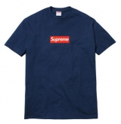 シュプリーム 人気 SUPREME 20th Anniversary BOX LOGO TEE 登坂着用 半袖Tシャツ ボックスロゴ コットン ネイビー