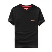 程よい伸縮性SUPREME通販クールネック半袖Tシャツ左胸ポケットシュプリーム 偽物Tシャツインナー4色可選