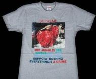 HOT品質保証SUPREME Tシャツ 値段プリントTシャツシュプリーム人気商品半袖Tシャツグレー