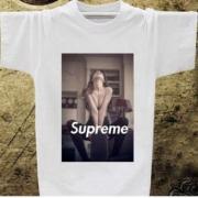 着心地が良い SUPREME ホワイト シュプリーム シャツ 半袖 セクシー 男性 夏服 お買い得セール 綿生地.
