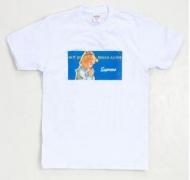 トレンドファッションシュプリーム新作2017プリントTシャツSUPREME 偽物Tシャツ半袖ホワイト
