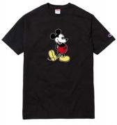 HOT人気セールシュプリームチャンピオンコラボミッキプリントTシャツSUPREME Tシャツ安い半袖3色可選