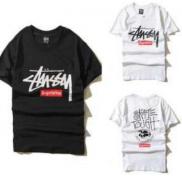 SUPREMEシュプリームtシャツ値段 STUSSY  メンズ 半袖 レオパード ホワイト、ブラック2色可選 限定セール.