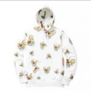 シュプリーム SUPREME 2017SS Gonz Butterfly Hooded Sweatshirt バタフライパーカー 男女兼用 ホワイト.
