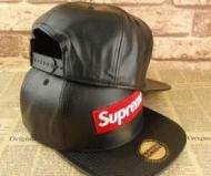 クールシュプリームボックスロゴ偽物レザーキャップSUPREME 17AW刺繍ロゴ帽子アウトドアブラック