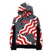 シュプリーム SUPREME BOX ロゴフーデッド パーカー 18AW Box Logo Pullover Flag 男女兼用 コットン.