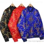 SUPREME スーパー コピー シュプリーム 男女兼用 ジャケット コットン ブルー、ブラック、レッド3色選択.