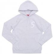 SUPREME S Logo Hooded Sweatshirt Sロゴプルオーバーパーカー グレー、ブラック、ネイビー3色 男女兼用.