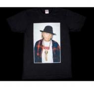 シュプリーム Tシャツ サイズ感 コピー品 SUPREME Neil Young ニールヤング 半袖 コットン生地 男女兼用 ブラック.