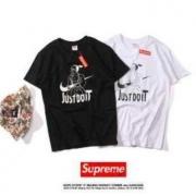 SUPREME シュプリーム コピーブランド Tシャツ 半袖 ブラック、ホワイト2色選択 男女兼用 ストリート.
