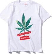 SUPREME Leaf Print シュプリーム コピー リーフプリント ホワイト、ブラック2色選択 半袖 tシャツ コットン.