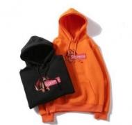 SUPREME ボックスロゴ パーカー 激安 シュプリーム Box Logo ブラック、オレンジ2色選択 コットン生地.