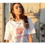 18SS SUPREME シュプリーム Elephant Tee エレファント半袖 Tシャツ コットン生地 白、黒、ピンク3色選択.