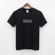 SUPREME シュプリーム×KAWS チョークBox Logo ボックスロゴ コピー Tシャツ ブラック、ホワイト2色選択.
