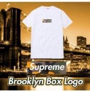 シュプリーム ボックスロゴ tシャツ SUPREME BoxLogo 半袖 コットン生地 ブラック、ホワイト2色選択.