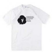 シュプリーム Mean Tee ミーン Tシャツ 半袖 コットン生地 男女兼用 ホワイト、ブラック2色選択 ファッション.
