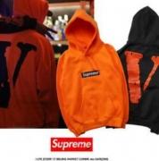 SUPREME Box Logo シュプリーム パーカー ボックスロゴ 人気 橙色、ブラック2色選択 男女兼用 コットン.