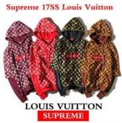 SUPREME X Louis Vuitton シュプリーム Fake Two Pieces フーデッド パーカー 4色選択 コットン生地 男女兼用.