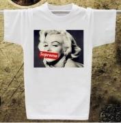 お買い得HOT シュプリームボックスロゴTシャツ偽物 SUPREME クールネックプリント半袖Tシャツホワイト
