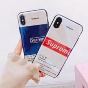 超レア 夏限定セールシュプリームスーパーコピーレディースファッションロゴiPhoneケース2色可選択