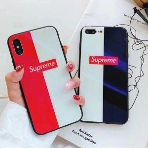 個性派☆シュプリーム iphone ケース カバー iPhone6 plus 活躍するsupremeレッド×ホワイトケースが欲しい 人気No.1 携帯ケース