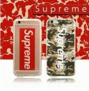 【今流行り】格安シュプリーム コピー 代引きIPHONE6Plus 携帯ケース ファション  Supreme ロゴ 魅力 迷彩 グリーン
